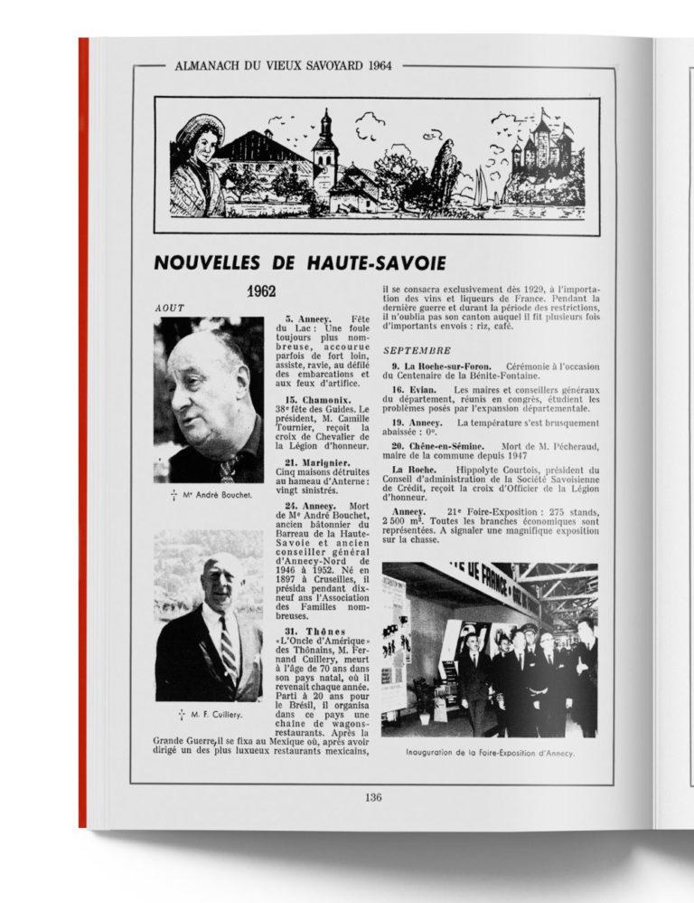 Histoire de la Haute-Savoie en 1964 - Pays de Savoie - Almanach Savoyard -