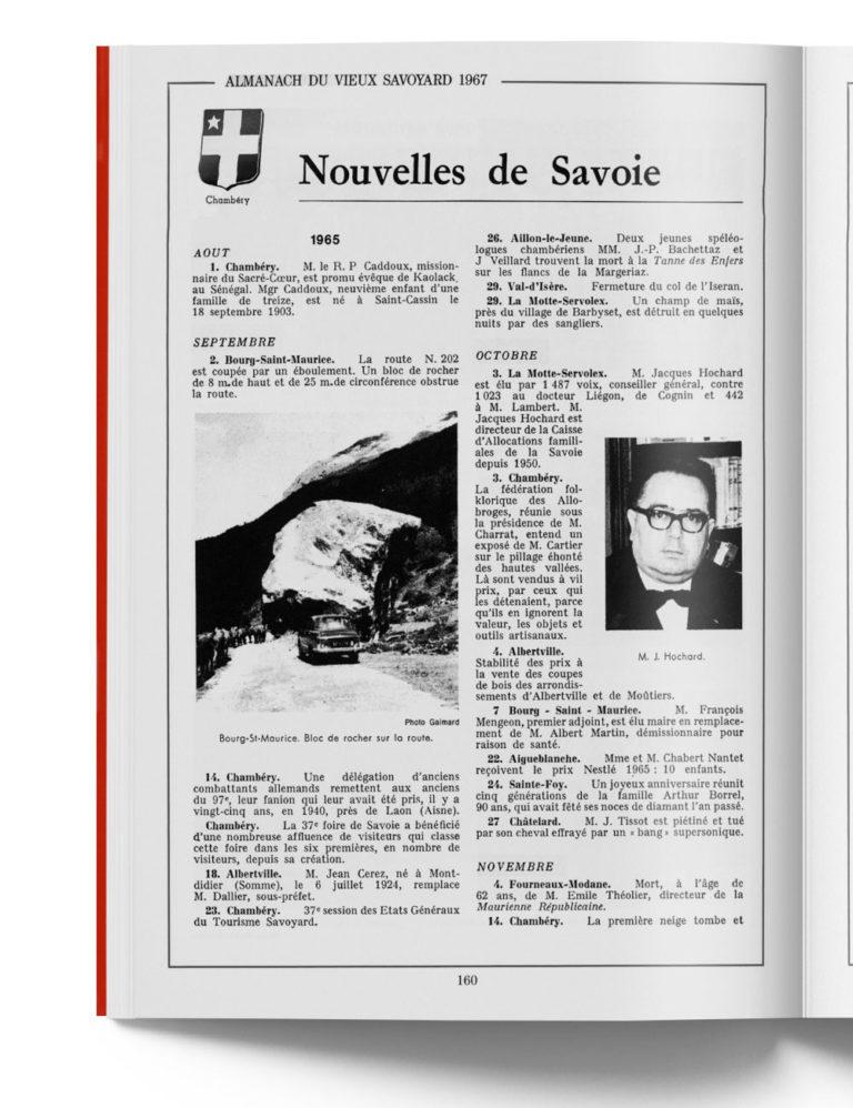 Histoire de Chambéry en 1967 - Pays de Savoie - Almanach Savoyard -