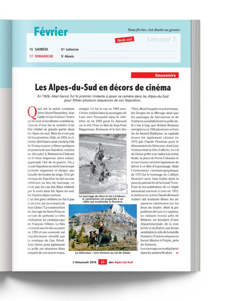 Almanach des Alpes du Sud - Décors de Cinéma