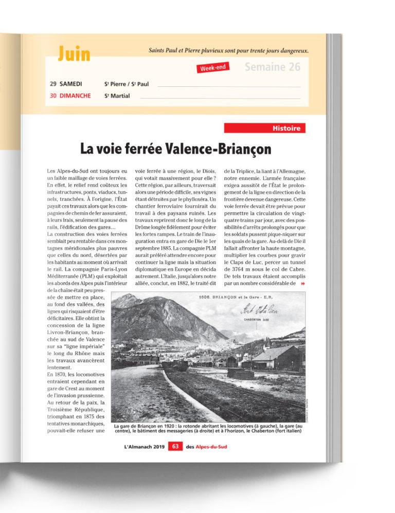 Almanach des Alpes du Sud - Histoire de la Voie Ferrée Valence-Briançon
