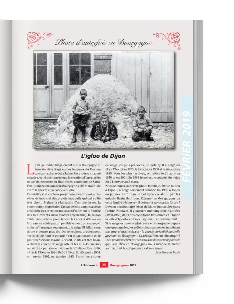 Almanach Bourguignon - Photo d'autrefois en Bourgogne - L'Igloo de Dijon