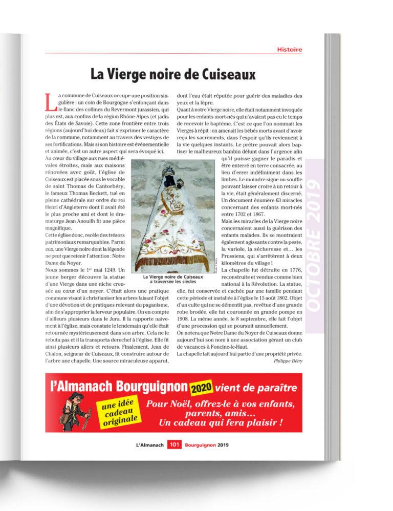 Almanach Bourguignon - La Vierge Noire de Cuiseaux