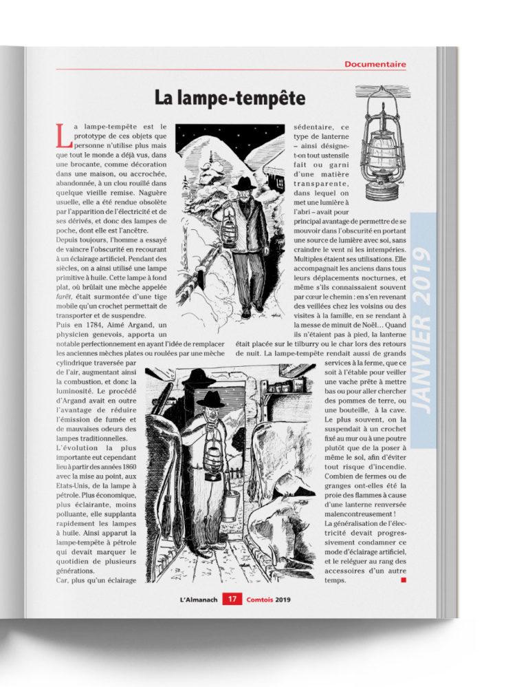 Almanach Comtois - Traditions et Histoire des régions avec la Lampe-Tempête