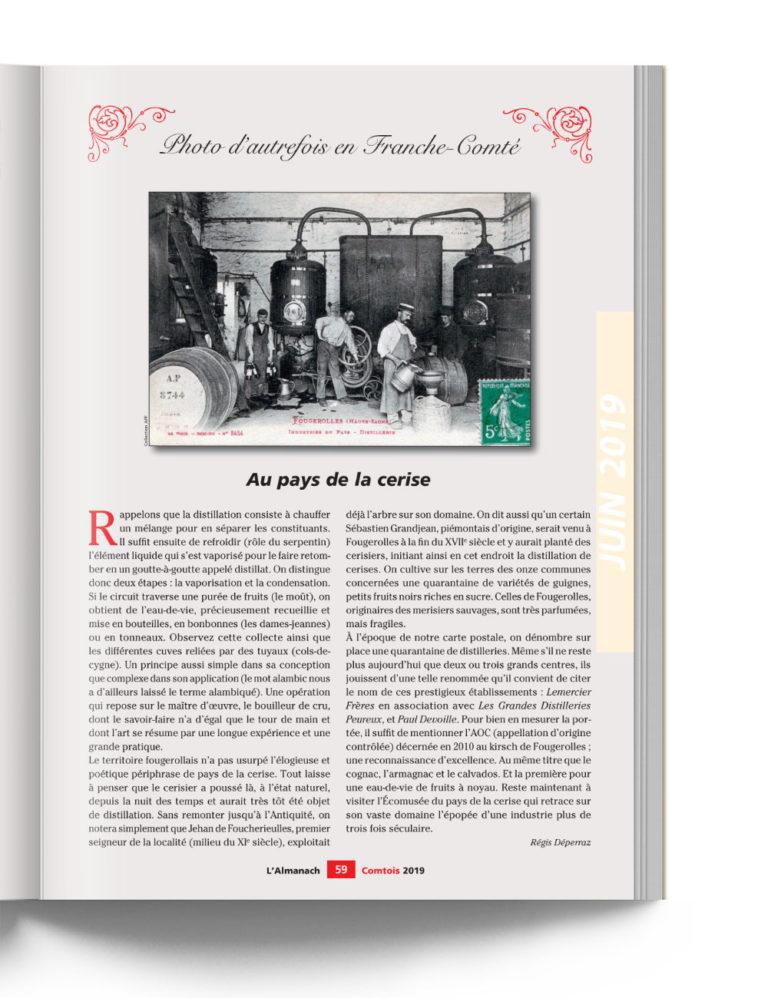 Almanach Comtois - Photo d'autrefois - Au Pays de la Cerise Franche-Comté