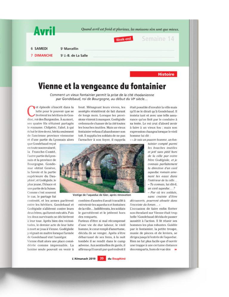 Almanach du Dauphiné - Histoire - Vienne et la vengeance du fontainier