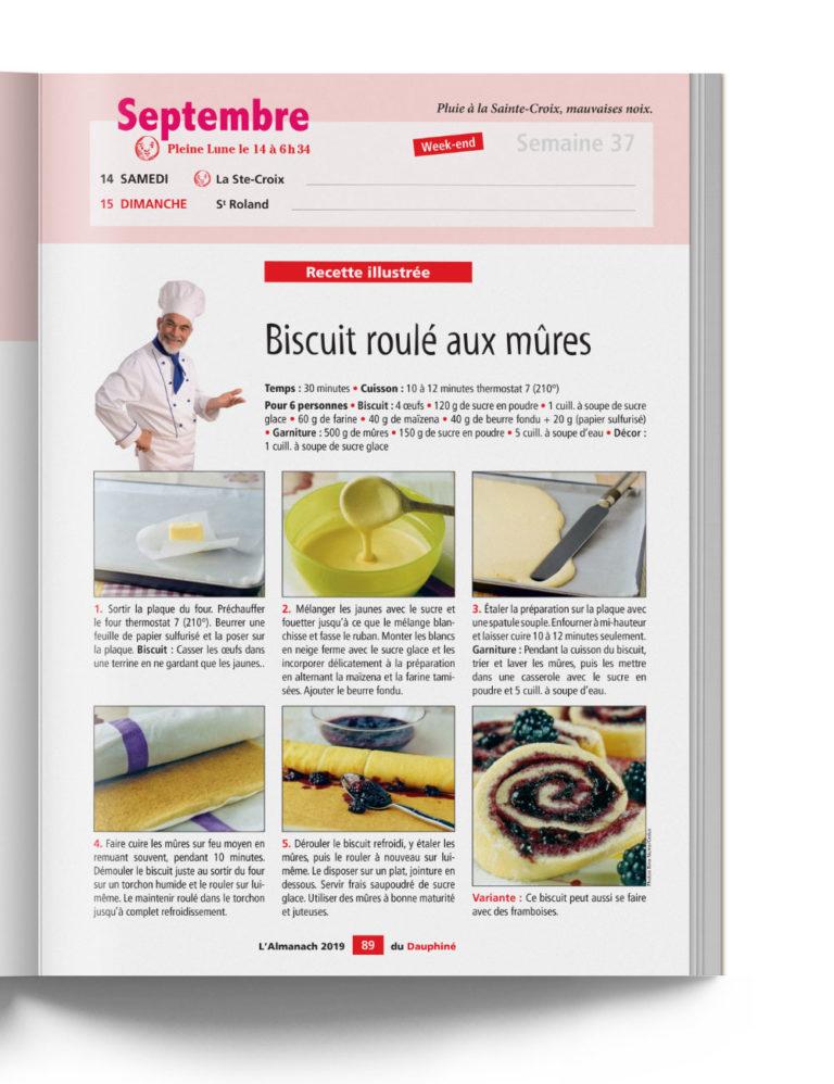 Almanach du Dauphiné - Recettes du Terroir - Biscuit roulé aux mûres