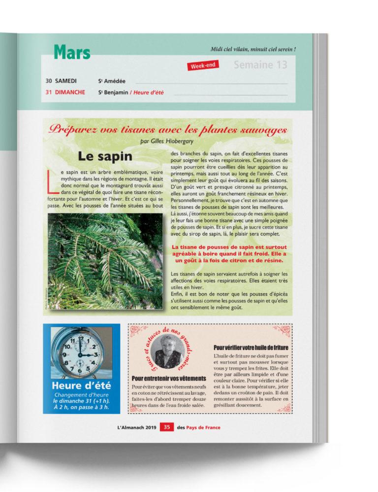 Almanach des Pays de France - Calendrier local et Astuces de Grands-Mères