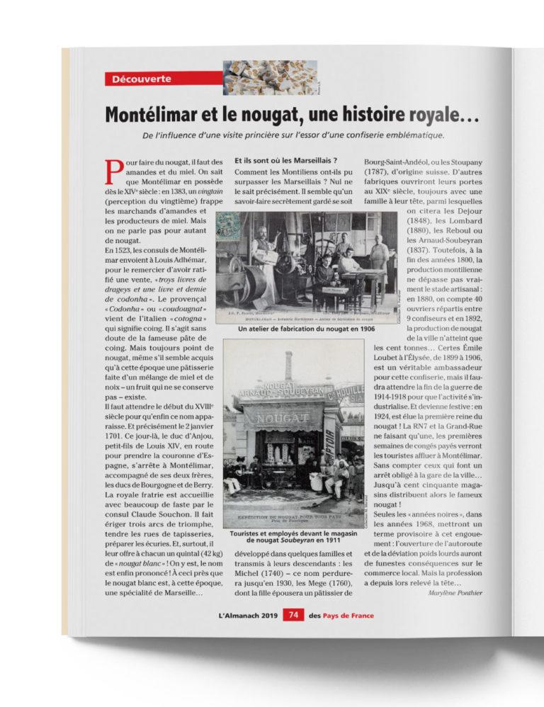 Almanach des Pays de France - Traditions et Histoire des régions avec le Nougat