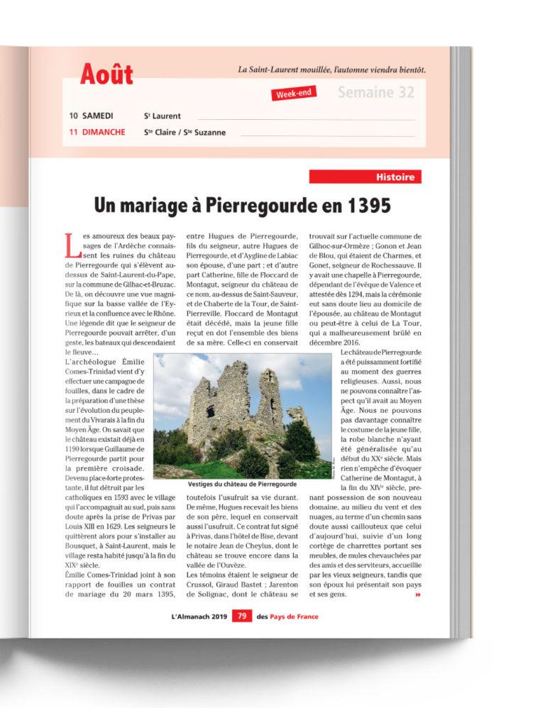 Almanach des Pays de France -
