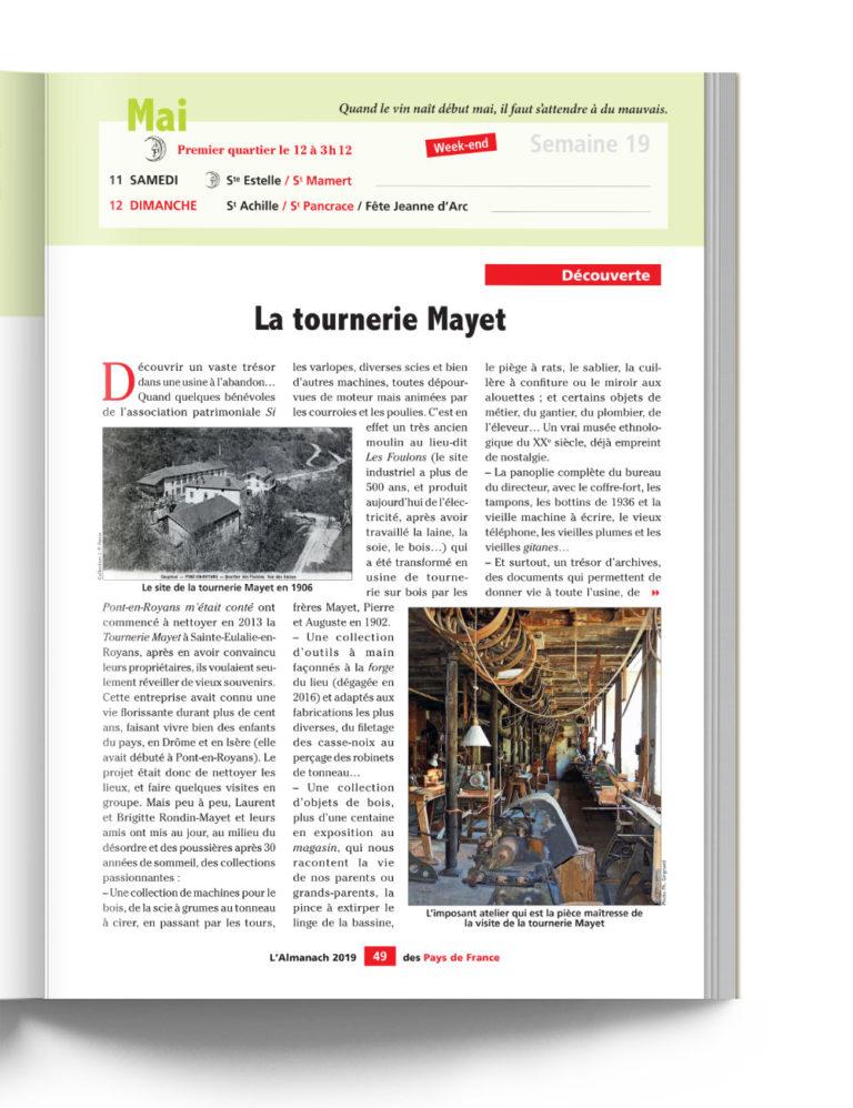 Almanach des Pays de France - Découverte de la tournerie de Mayet