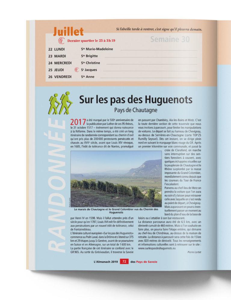 Almanach Pays de Savoie - Calendrier région et Randonnées