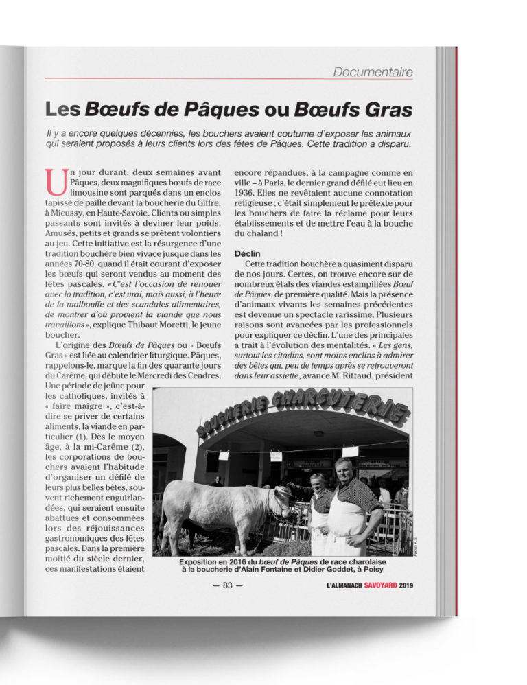 Almanach Savoyard 2019 - Documentaire Local Savoie Traditions
