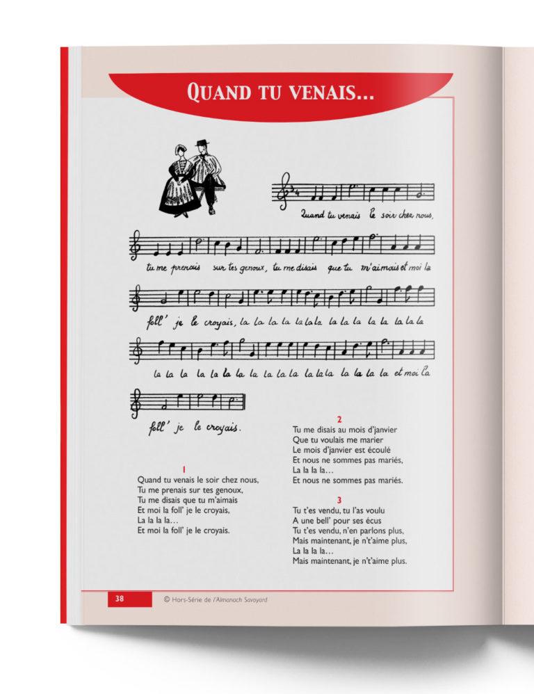 """Chansons chantées en Pays de Savoie - """"Quand tu venais"""" chanson savoyarde"""