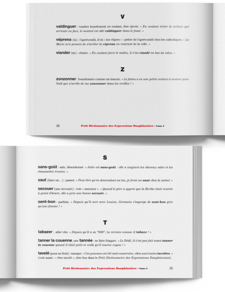 Petit Dictionnaire des Expressions Dauphinoises Tome 2 – Livre expression du Dauphiné